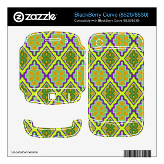 Trendy cool colorful pattern BlackBerry decals