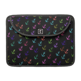 Trendy, cool, fashion, girly glittering anchor MacBook pro sleeves