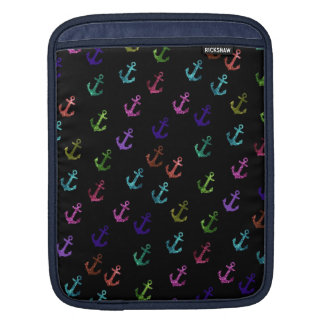 Trendy, cool, fashion, girly glittering anchor sleeve for iPads