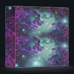 """Trendy Cool Sparkly New Nebula Design Binder<br><div class=""""desc"""">Cute and trendy pink blue teal nebula design with bright sparkly stars. All are photo printed.</div>"""