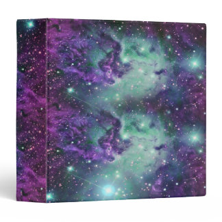 Trendy Cool Sparkly New Nebula Design Binder