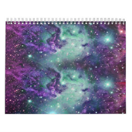 Trendy Cool Sparkly New Nebula Design Calendar