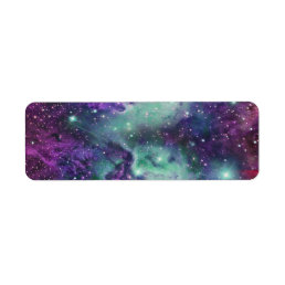 Trendy Cool Sparkly New Nebula Design Label