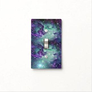 Trendy Cool Sparkly New Nebula Design Light Switch Cover