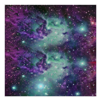 Trendy Cool Sparkly New Nebula Design Poster