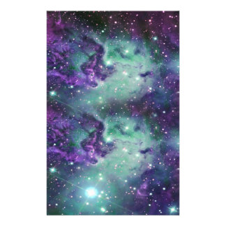 Trendy Cool Sparkly New Nebula Design Stationery