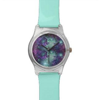 Trendy Cool Sparkly New Nebula Design Wristwatch
