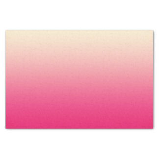 """Trendy Coral Pink to Vintage White Ombre Gradient 10"""" X 15"""" Tissue Paper"""