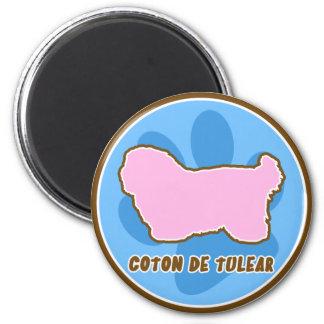 Trendy Coton de Tulear 2 Inch Round Magnet