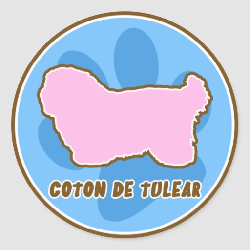 Trendy Coton de Tulear Classic Round Sticker