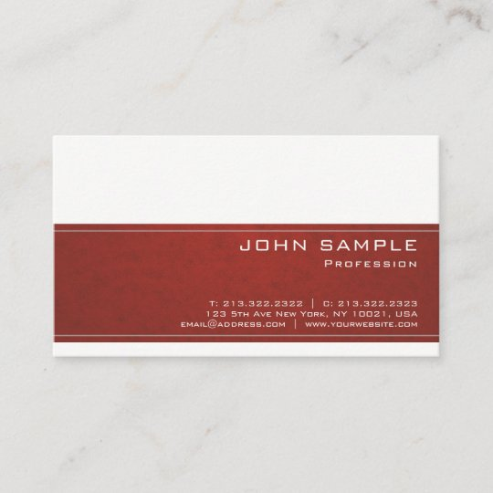 trendy creative professional modern design classy business card - Classy Business Cards