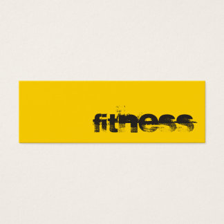 Trendy Creative Yellow Fitness Sport Business Card