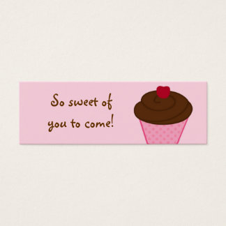 Trendy Cupcake Baby Shower Favor Gift Tags