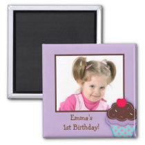 Trendy Cupcake Birthday Party Favor Magnets