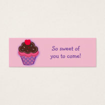 Trendy Cupcake Cherry Party Favor Gift Tags