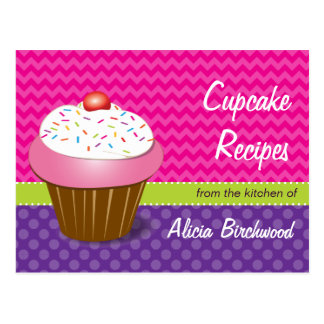 Trendy Cupcake Recipe Postcard