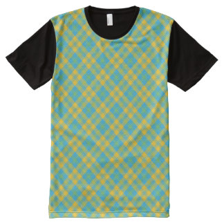 Yellow plaid men 39 s clothing apparel zazzle for Blue and green tartan shirt