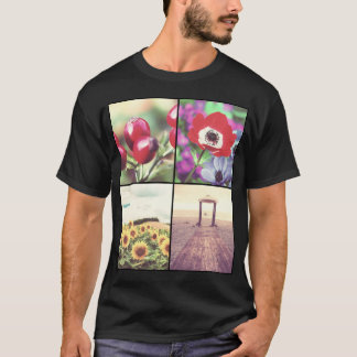Trendy custom photo grid design your own T-Shirt