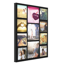 Trendy custom photo layout canvas print