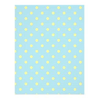 Trendy Cute  Aqua Yellow Polka Dots Pattern Flyer
