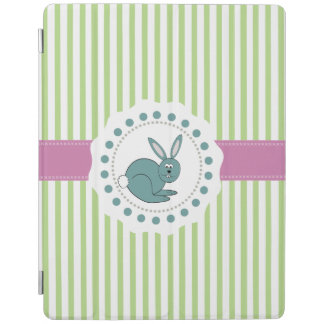 Trendy cute Cheerful cartoon funny bunny iPad Smart Cover