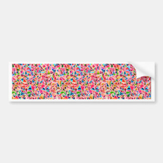 Trendy cute colorful abstract mosaic car bumper sticker