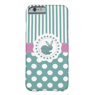 Trendy cute Easter cartoon funny bunny Barely There iPhone 6 Case