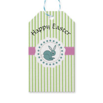 Trendy cute Easter cartoon funny bunny Gift Tags