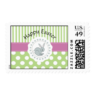 Trendy cute Easter cartoon funny bunny Postage Stamp
