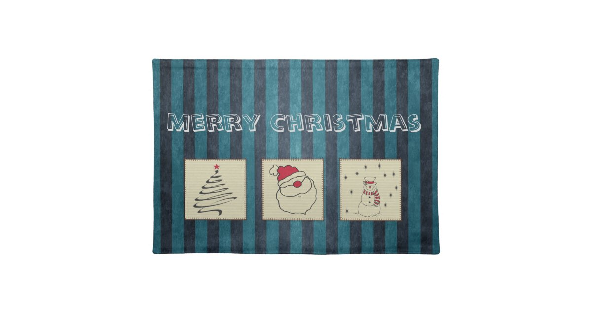 Trendy Cute Funny Christmas Patchwork Holiday Cloth