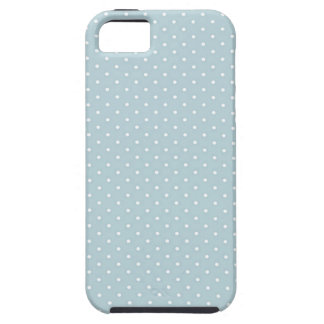 Trendy Cute Girly Blue White Polka Dots Pattern iPhone 5 Case