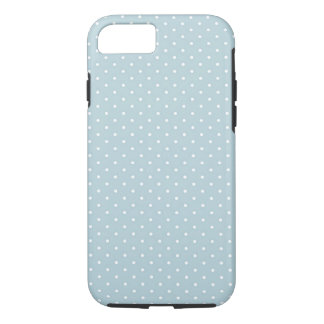 Trendy Cute Girly Blue White Polka Dots Pattern iPhone 7 Case
