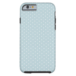 Trendy Cute Girly Blue White Polka Dots Pattern Tough iPhone 6 Case