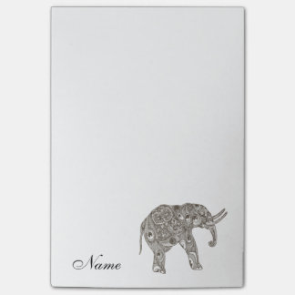 Trendy cute girly elephant  personalized post-it® notes