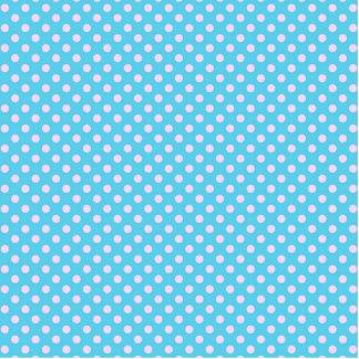 Trendy Cute Girly Pink  Teal Polka Dots Pattern Cutout