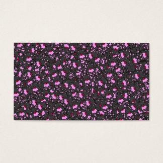 Trendy Cute Little Black Neon Pink  Bears Print Business Card