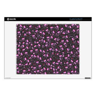"Trendy Cute Little Black Neon Pink Bears Skins For 14"" Laptops"