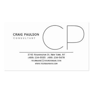 Trendy Cute Monogram Black White Business Card