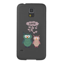 Trendy cute owl love couple case for galaxy s5