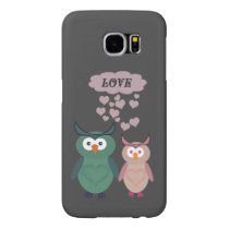 Trendy cute owl love couple samsung galaxy s6 case