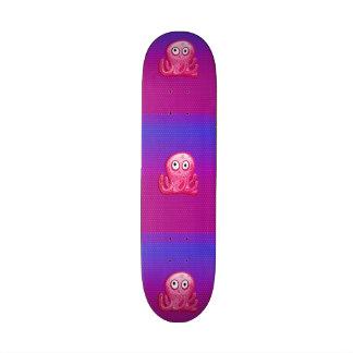 Trendy Cute Pink and Purple Octopus Skate Boards