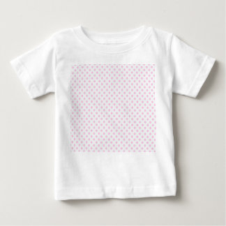 Trendy Cute Pink White Polka Dots Pattern Baby T-Shirt