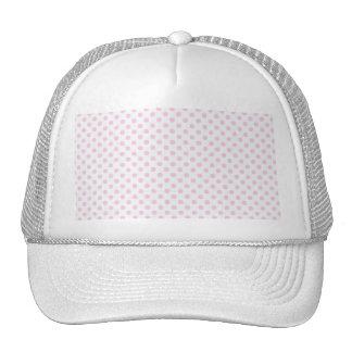 Trendy Cute Pink White Polka Dots Pattern Mesh Hats