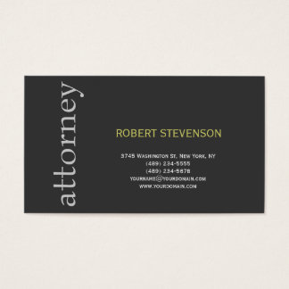 Trendy Cute Plain Attorney at Law Business Card