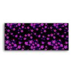Trendy Cute Purple and Black Floral Print Envelopes