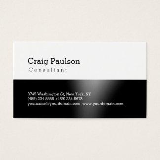 Trendy Cute Standard Black White Business Card