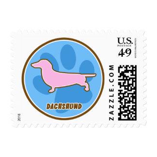 Trendy Dachshund Postage Stamps