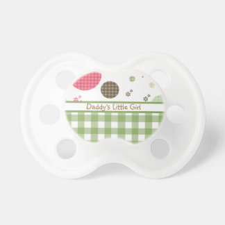 Trendy Daddy's Little Girl Gingham and Polka Dots Pacifier