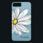 """Trendy Daisy Floral Illustration Custom name iPhone 8 Plus/7 Plus Case<br><div class=""""desc"""">A zen and whimsical,  hipster cover.</div>"""