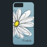"Trendy Daisy Floral Illustration Custom name iPhone 8 Plus/7 Plus Case<br><div class=""desc"">A zen and whimsical,  hipster cover.</div>"